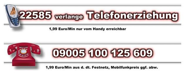 Handy Telefonsex vermittlung mit Sklavin